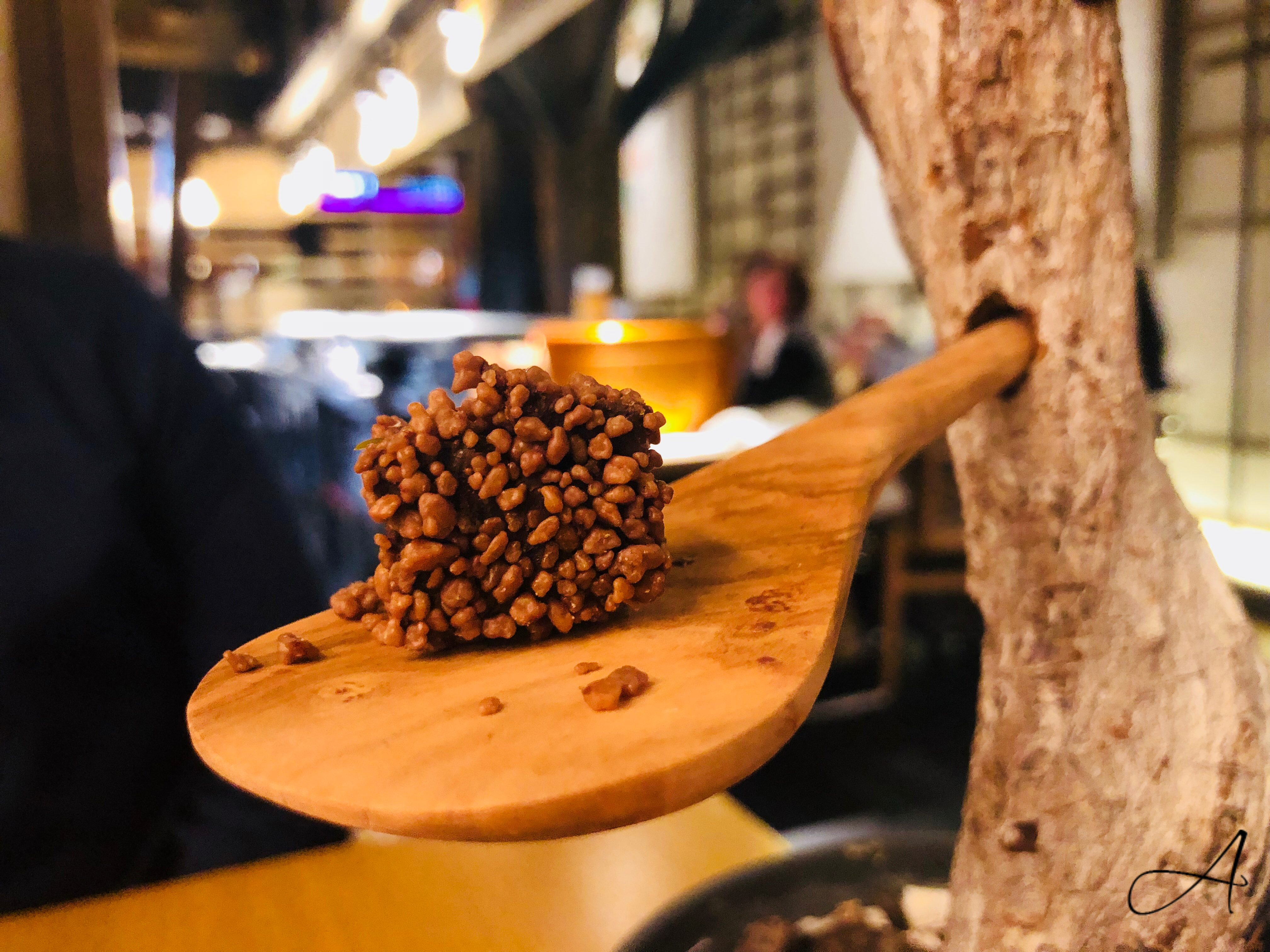 Turrón de chocolate con peta-zetas