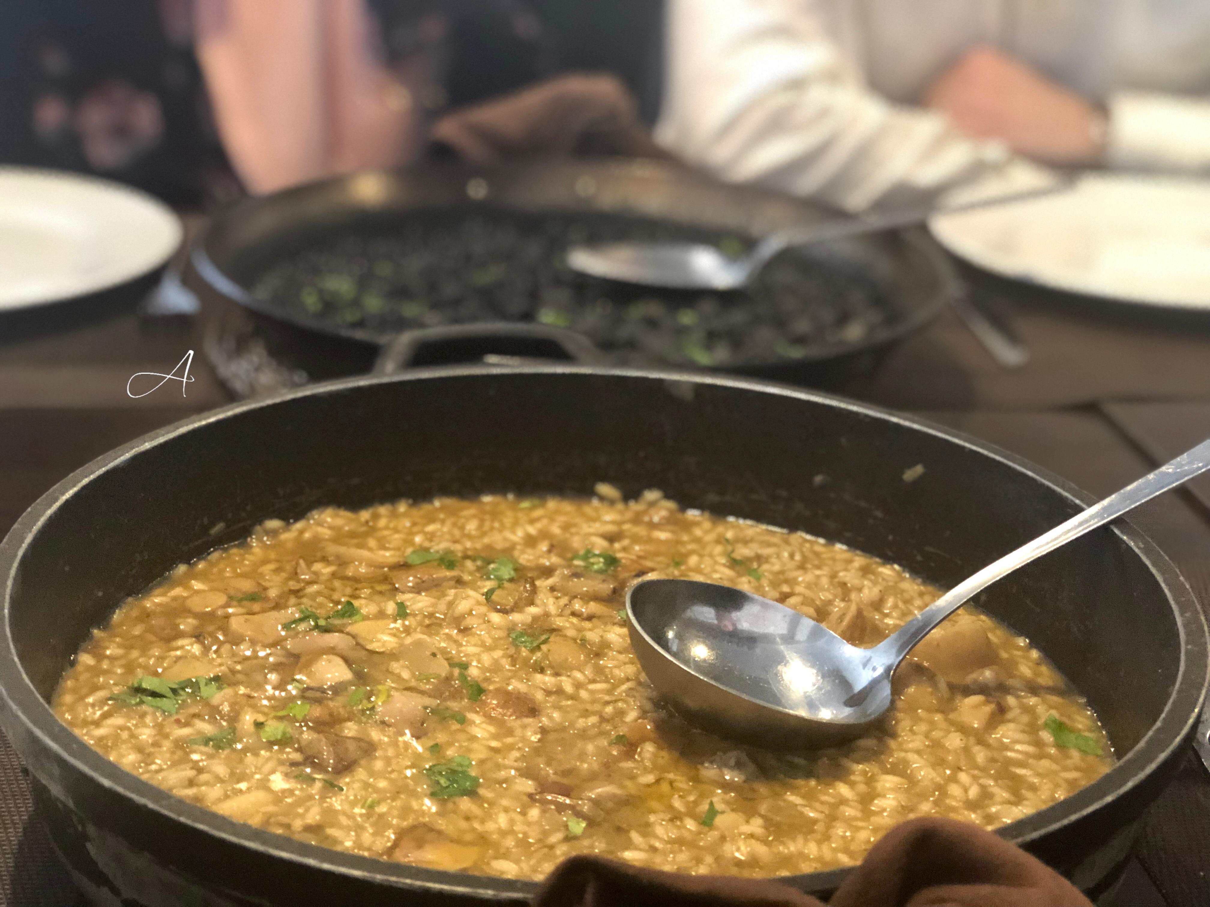 Arroz meloso y arroz negro