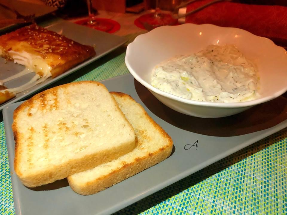 Pan sin gluten con Tsatsiki
