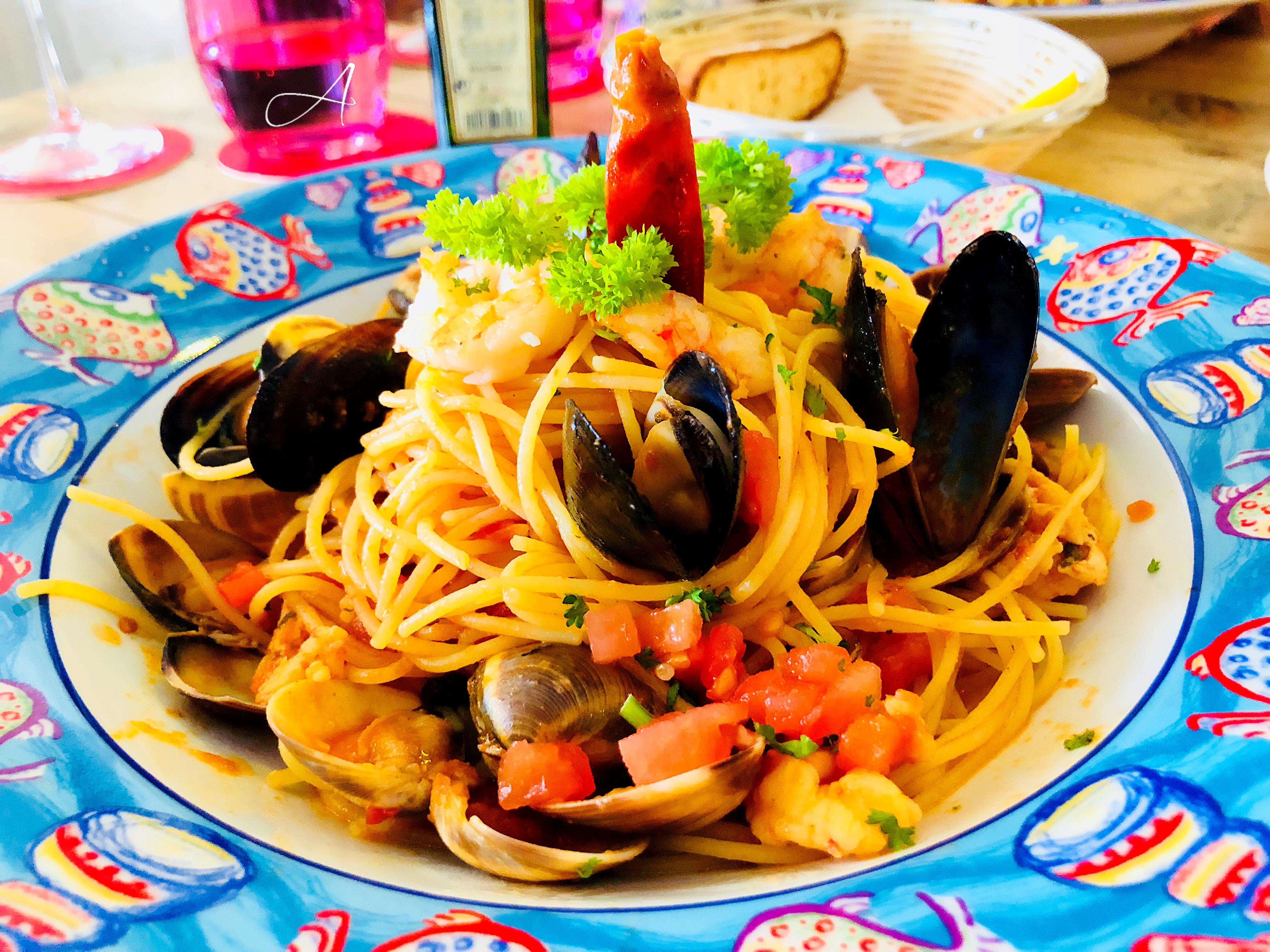 Spaguetti sin gluten frutti de mare.