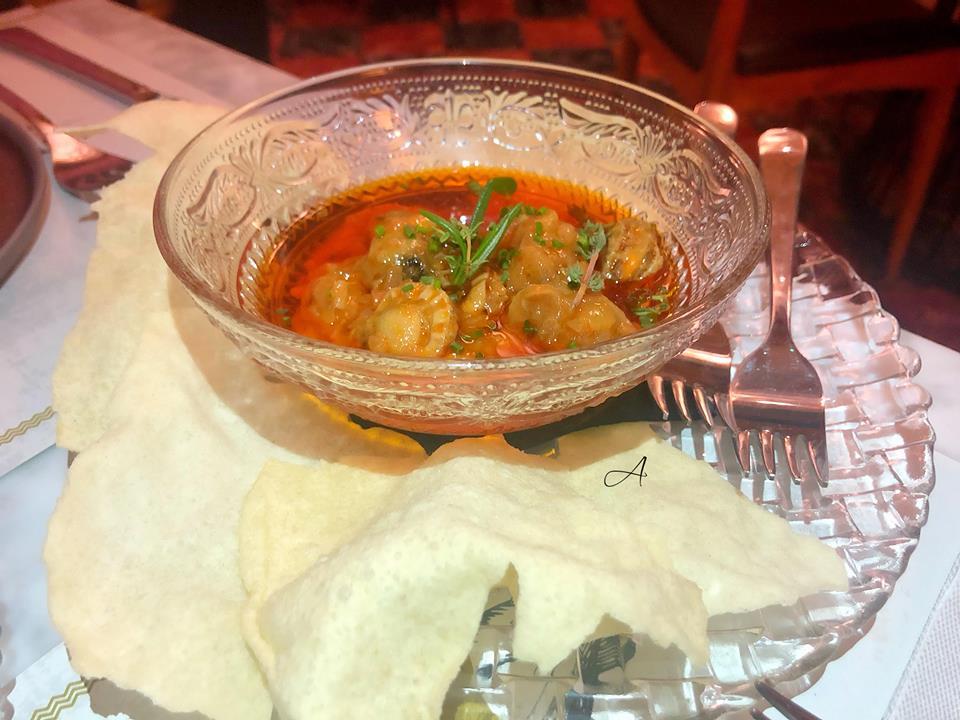 Zamburiñas con salsa de vieiras