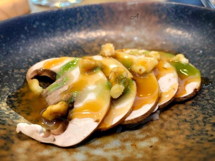 Champiñón Portobello con paté de setas