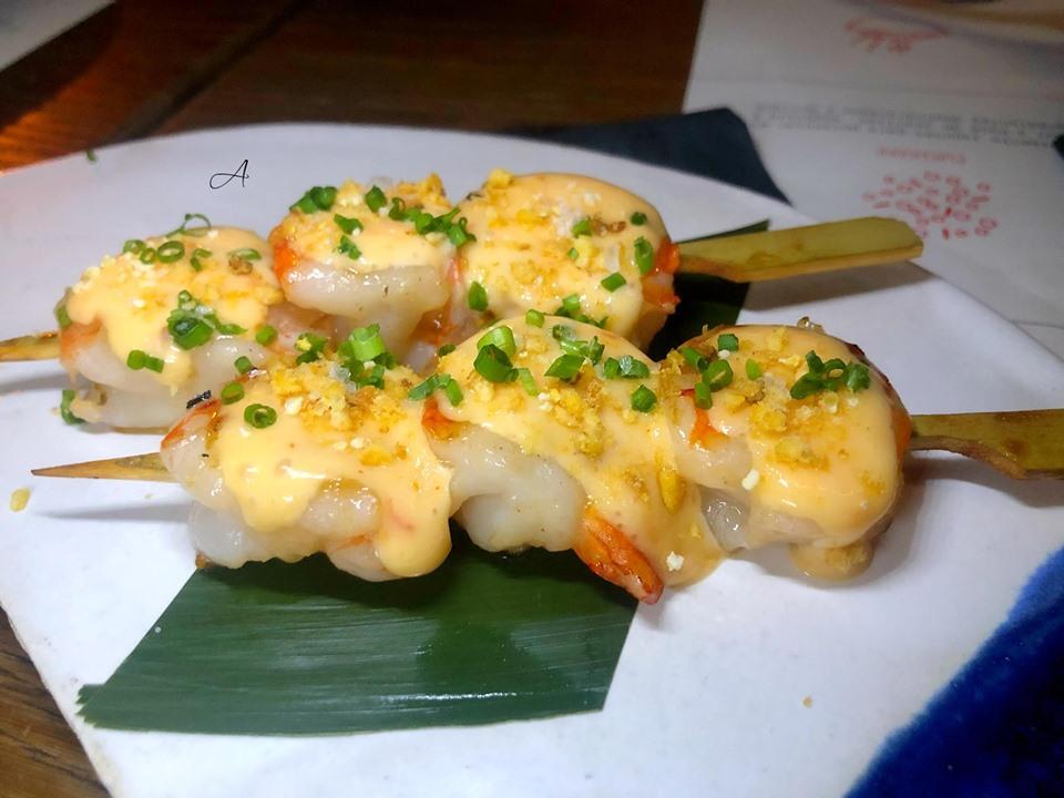 Kushiyaki de langostinos
