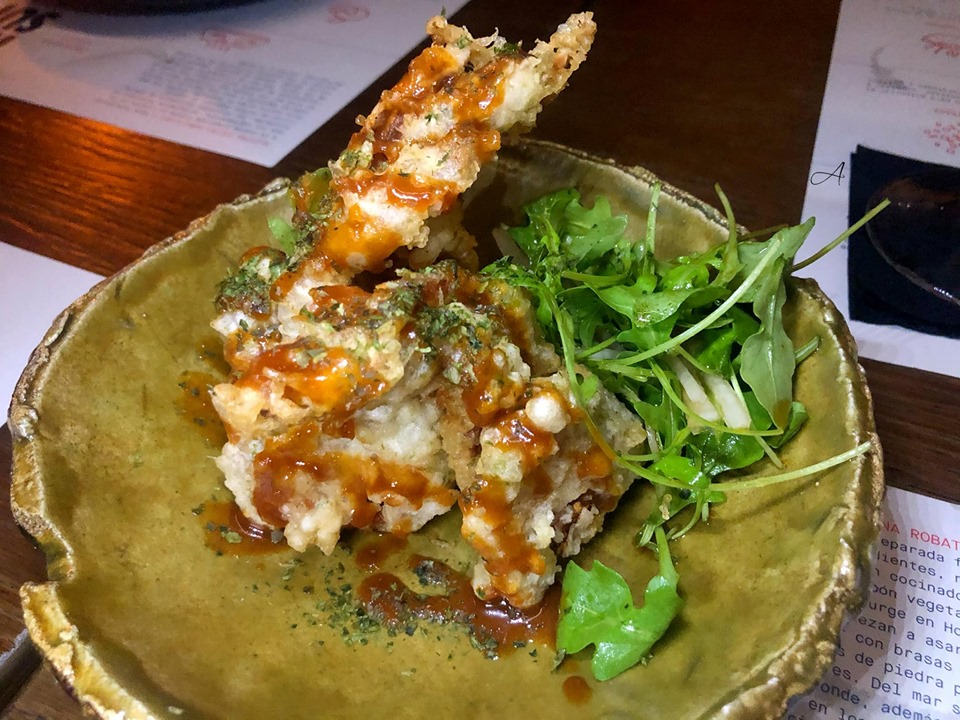 Tempura de cangrejo de concha blanda